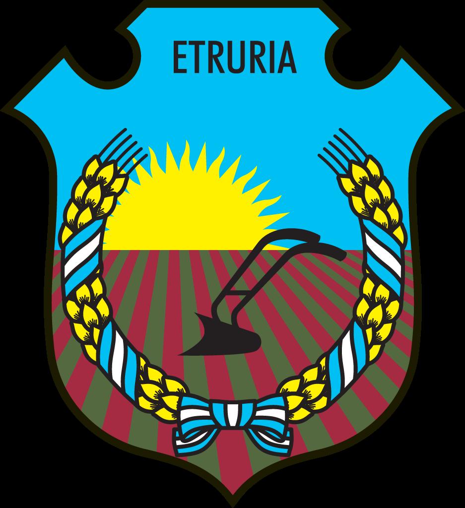 Escudo de Etruria creado en 1972 por Violeta Velázquez.