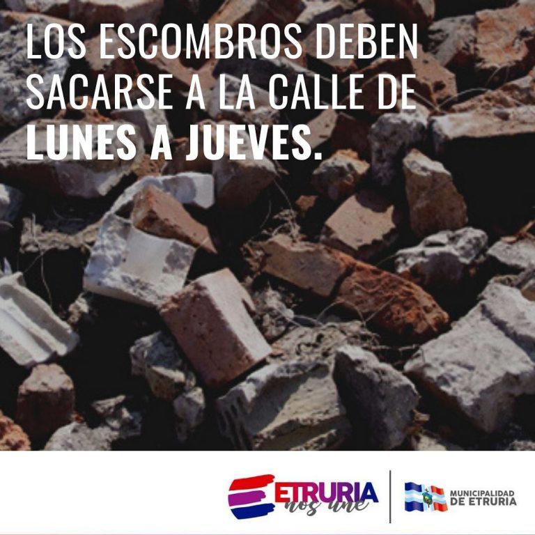 Escombros de lunes a jueves